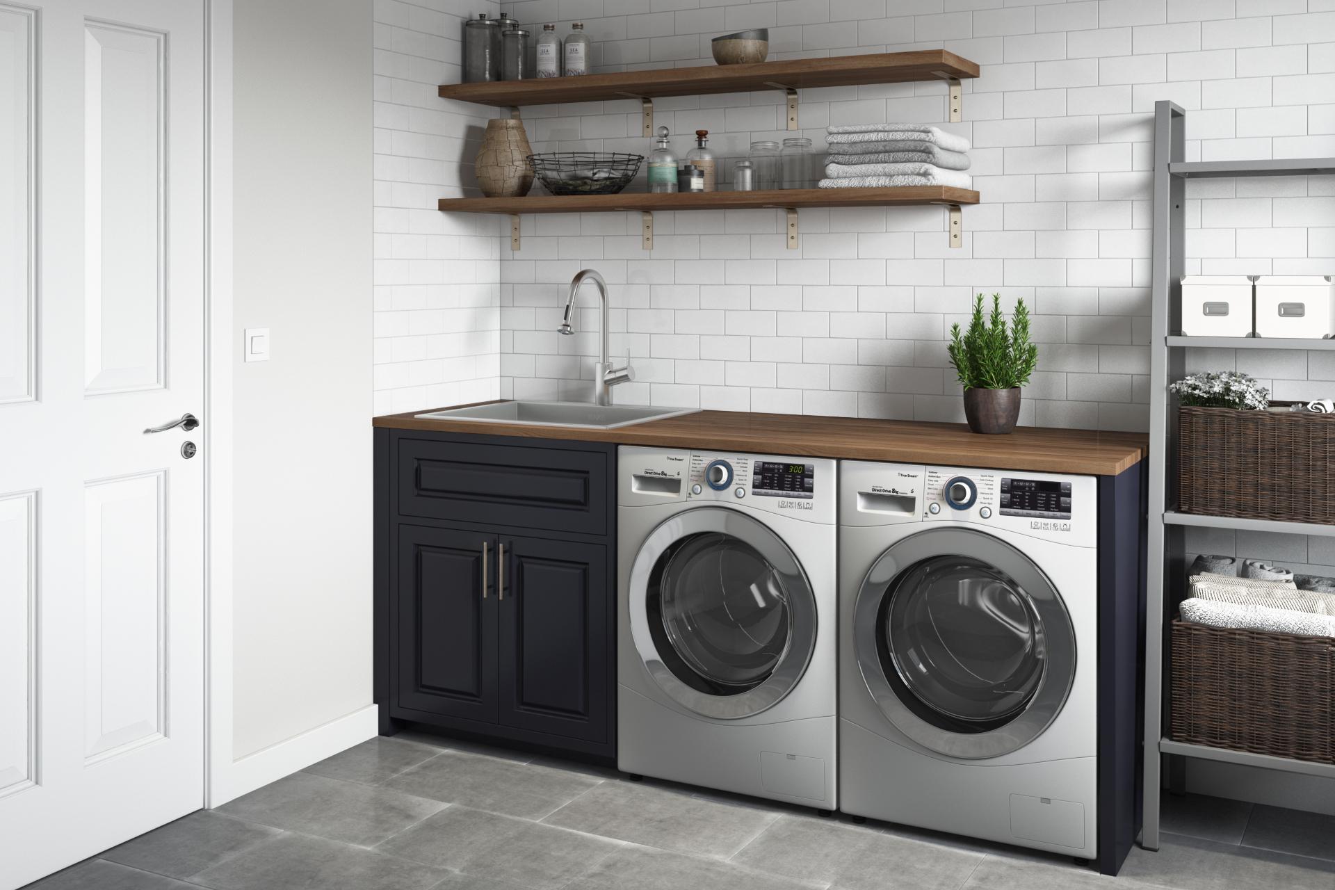 Topmount Laundry 22 X 22 X 12 Deep Utility Sink 16 Gauge Stainless Steel Ruvati Usa