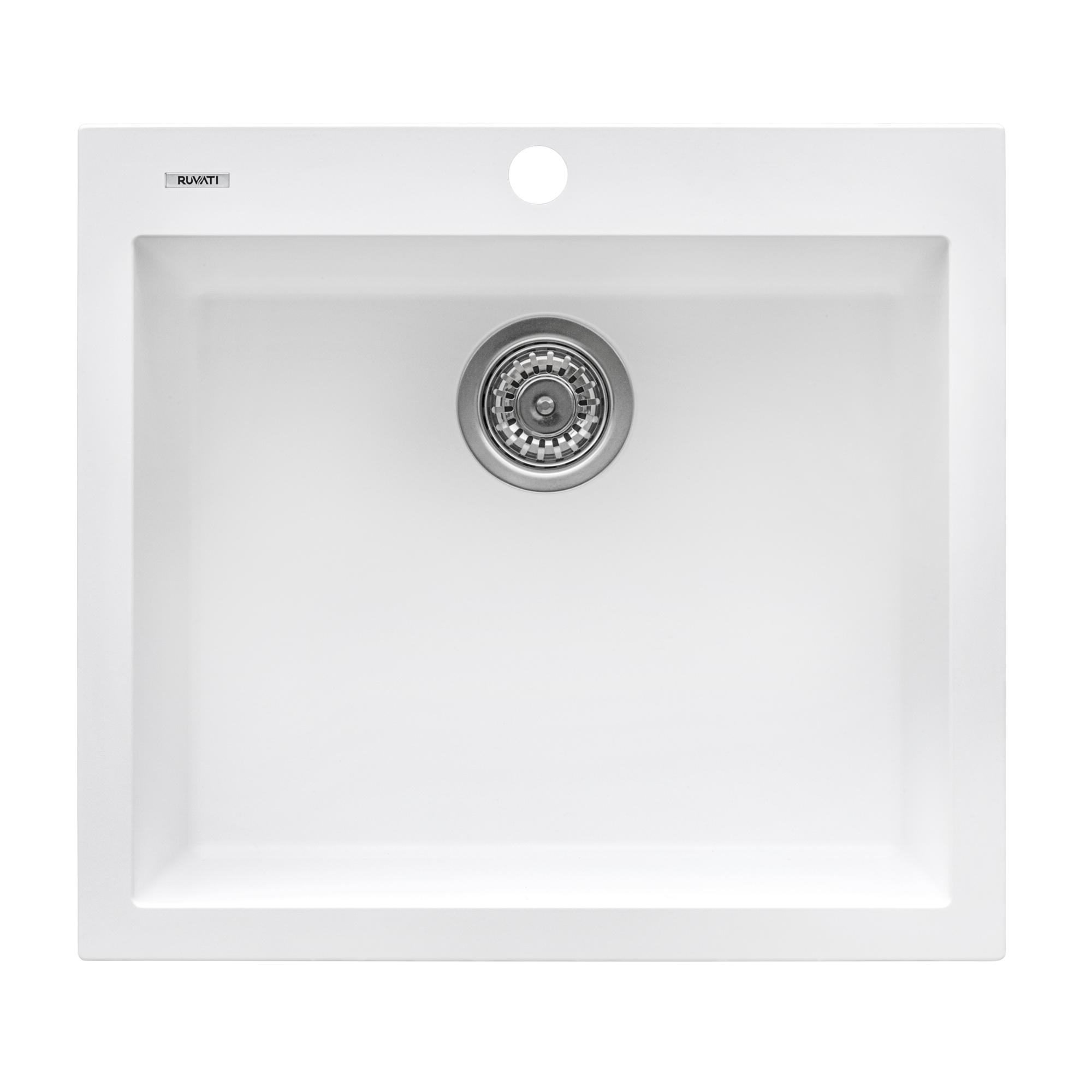single bowl and kitchen faucet Granite composite kitchen sink SET