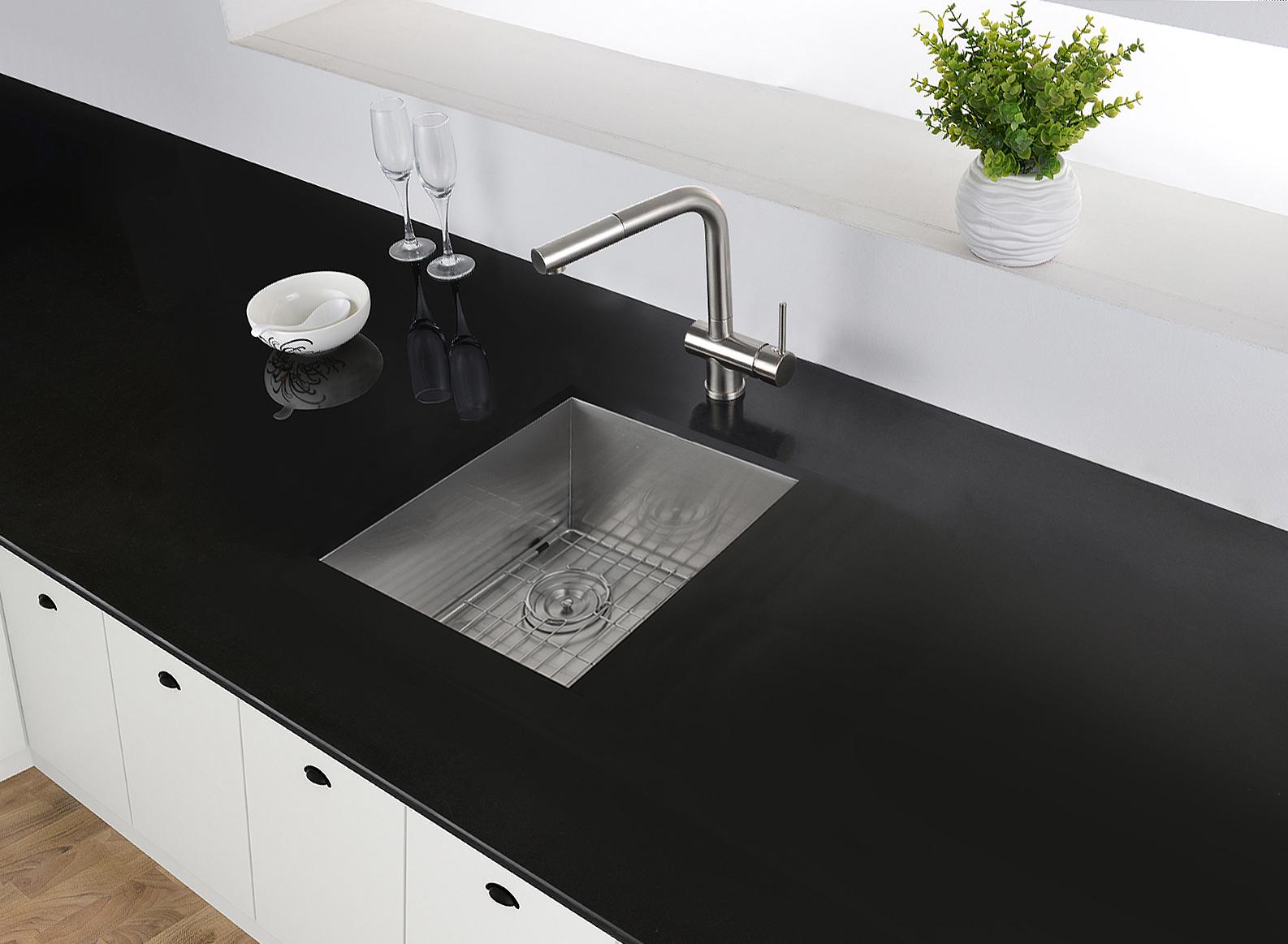 13 x 15 inch Undermount 16 Gauge Zero Raduis Bar Prep Kitchen Sink  Stainless Steel Single Bowl