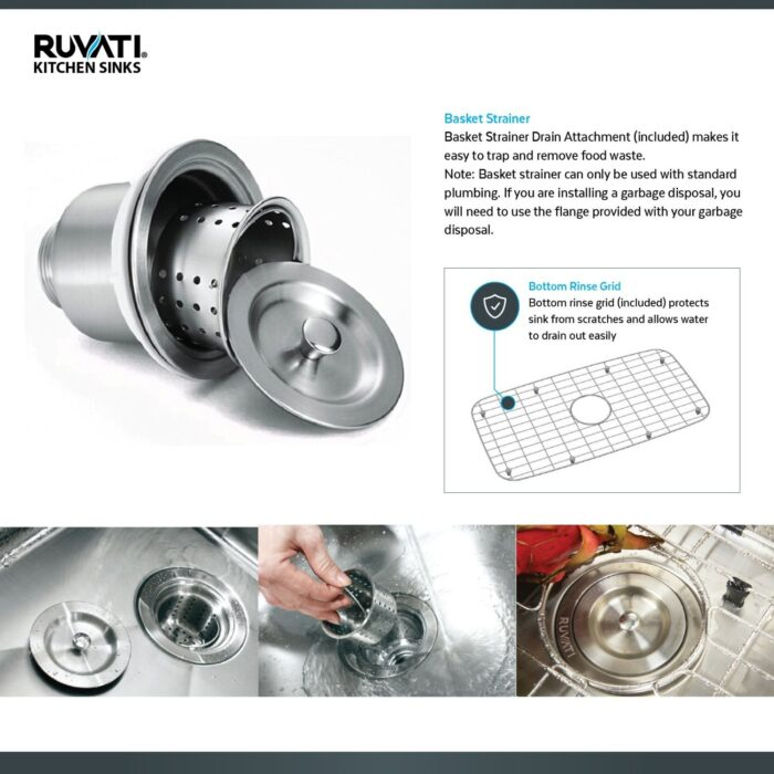 32 Inch Undermount 50 50 Double Bowl Tight Radius 16 Gauge Stainless Steel Kitchen Sink Ruvati Usa