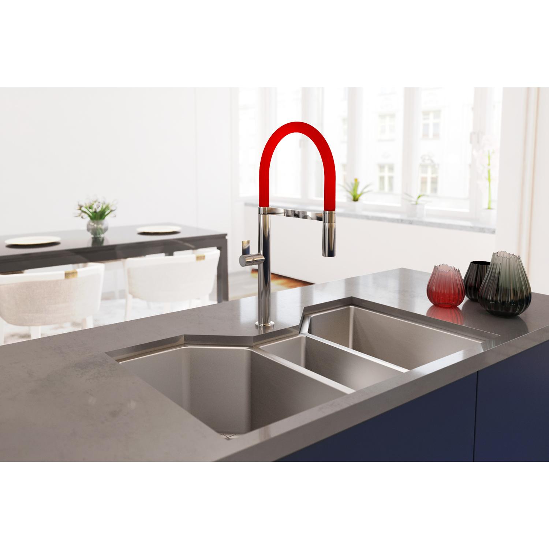 35 Triple Bowl Undermount 16 Gauge Stainless Steel Kitchen Sink Ruvati Usa