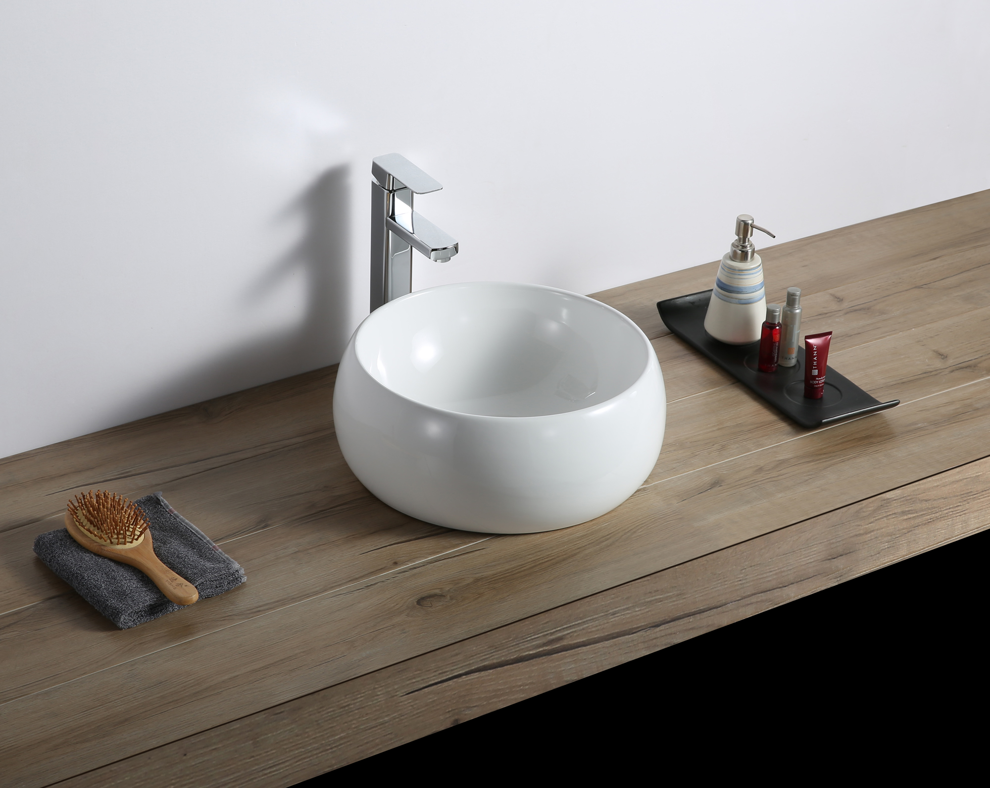 12 Inch Bathroom Vessel Sink Round White Circular Above Counter Porcelain Ceramic Ruvati Usa