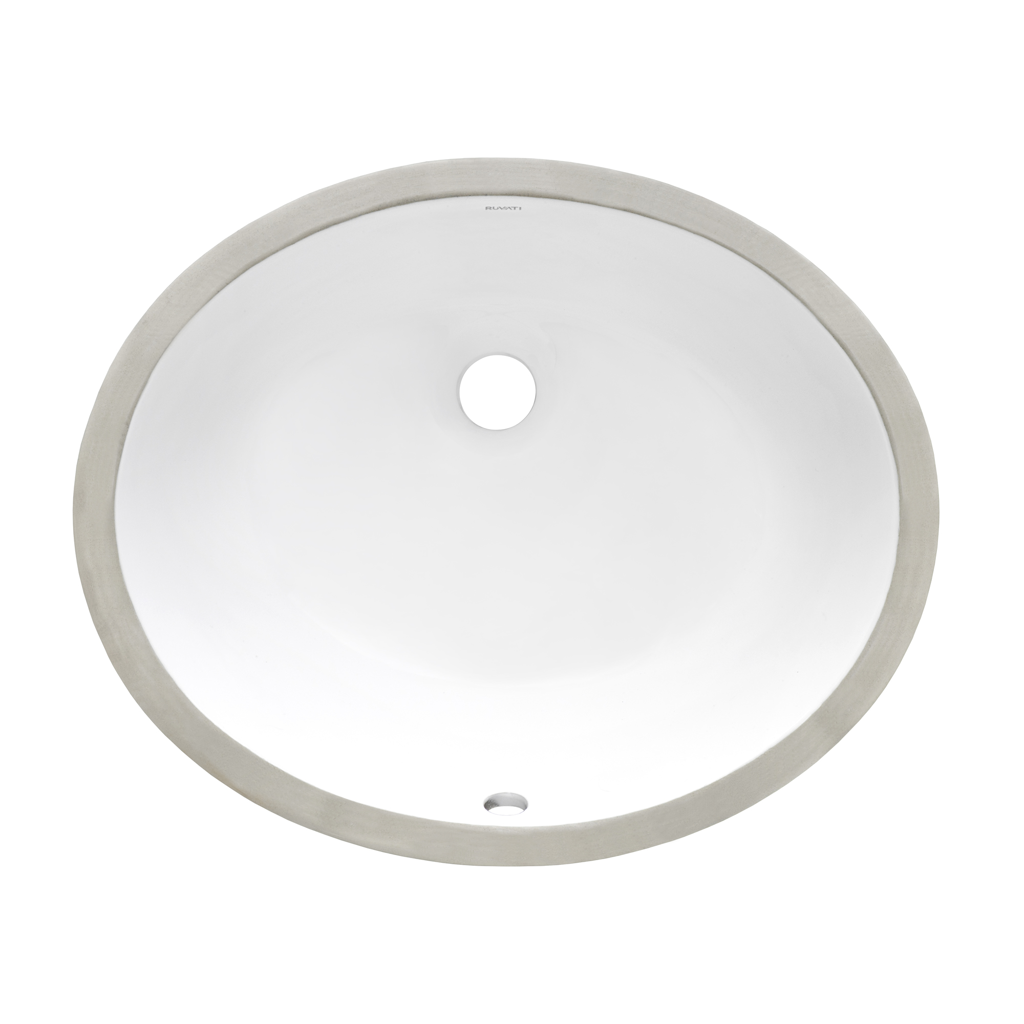18 X 15 Inch Undermount Bathroom Sink White Oval Porcelain Ceramic With Overflow Ruvati Usa