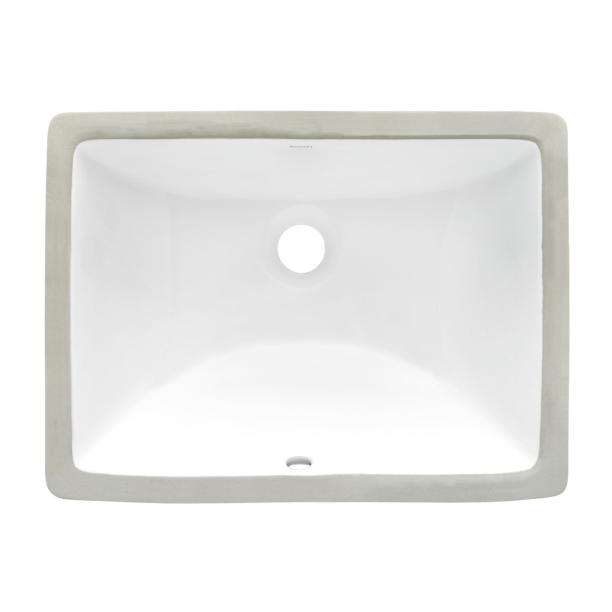 6 x 6 inch Undermount Bathroom Vanity Sink White Rectangular