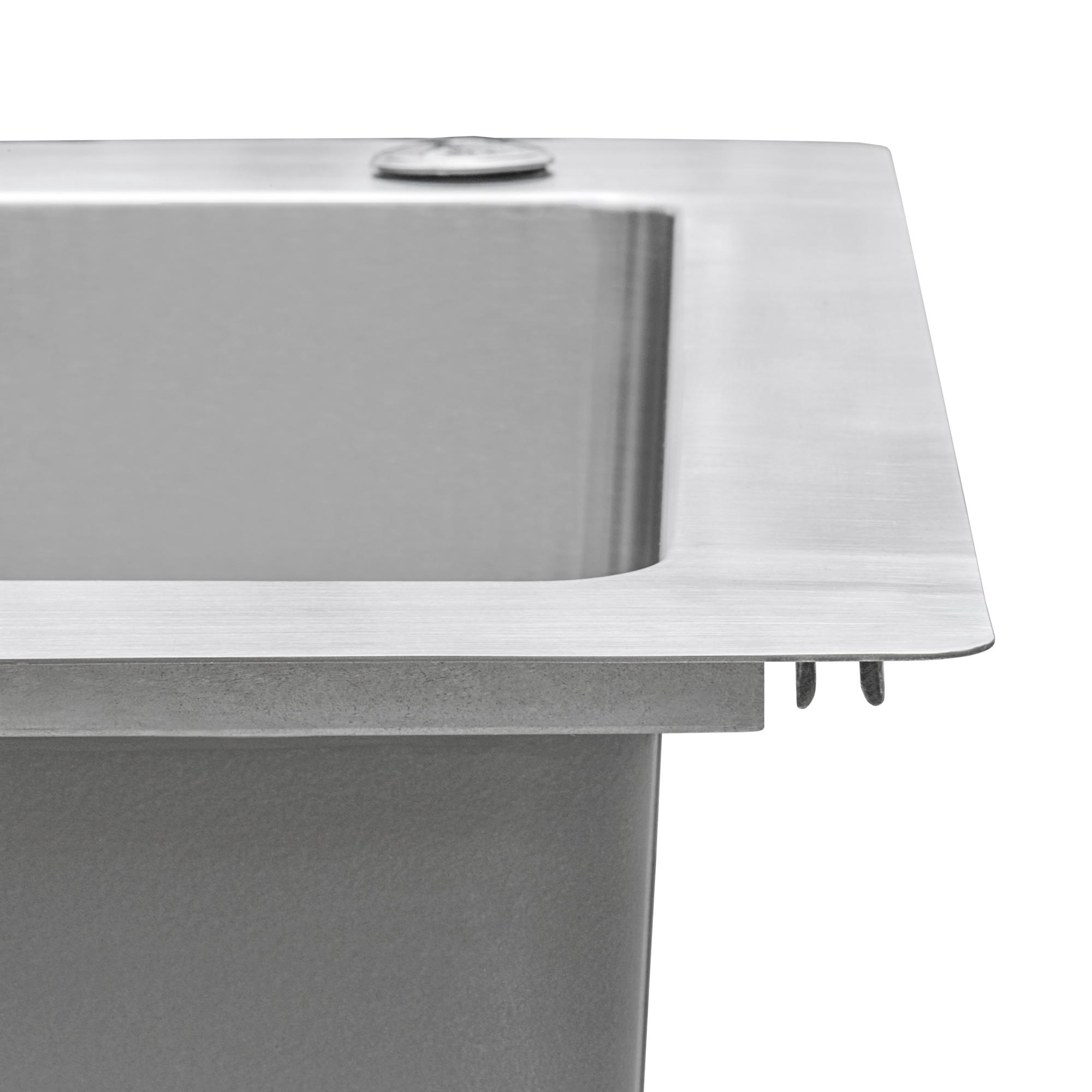 Picture of: Ruvati 33 X 22 Inch Drop In Topmount Kitchen Sink 16 Gauge Stainless Steel 70 30 Double Bowl Rvm5173