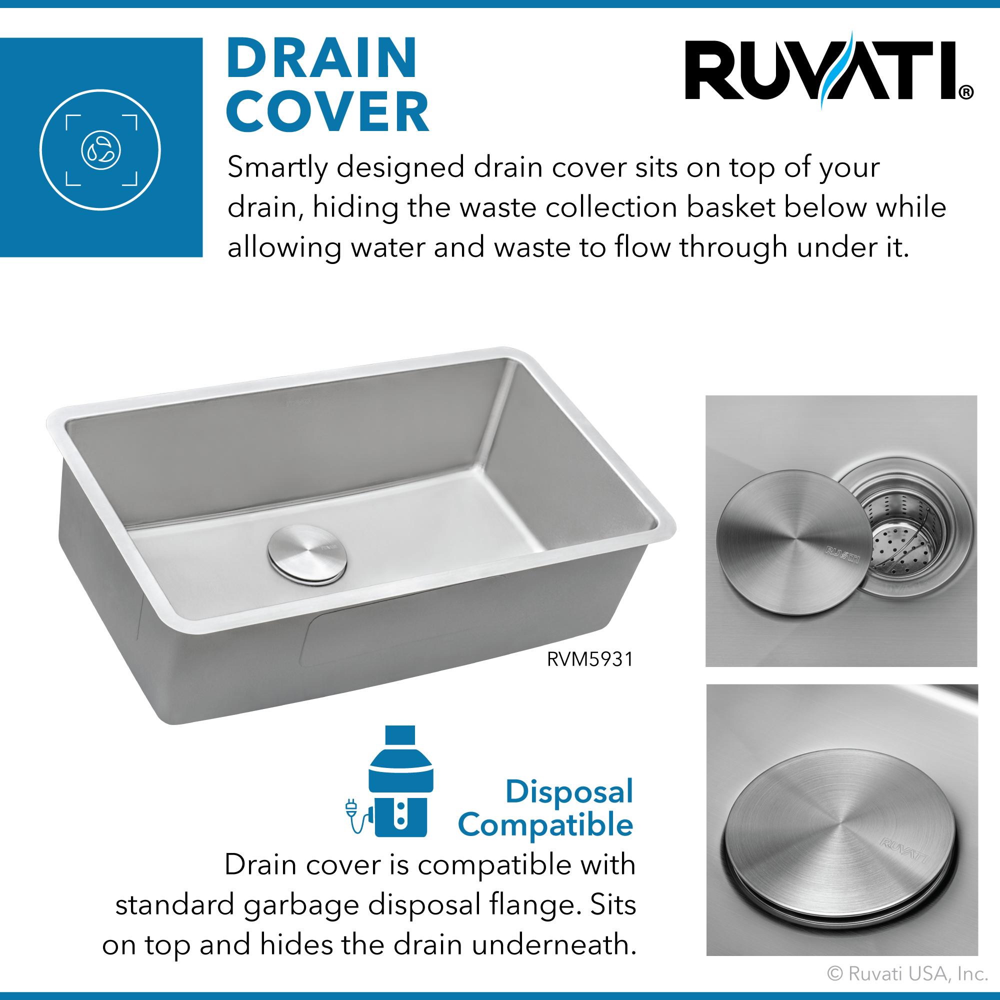 31 Inch Undermount Kitchen Sink 16 Gauge Stainless Steel Single Bowl Ruvati Usa